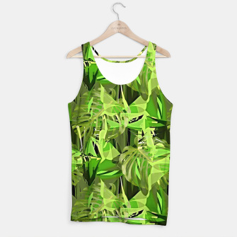 Thumbnail image of Tropical Jungle Greens Camouflage  Tank Top, Live Heroes