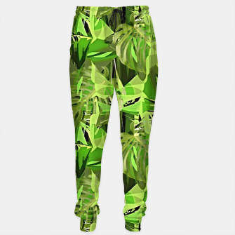 Thumbnail image of Tropical Jungle Greens Camouflage  Sweatpants, Live Heroes