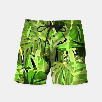 Thumbnail image of Tropical Jungle Greens Camouflage  Swim Shorts, Live Heroes