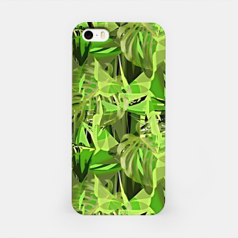 Thumbnail image of Tropical Jungle Greens Camouflage  iPhone Case, Live Heroes