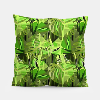 Thumbnail image of Tropical Jungle Greens Camouflage  Pillow, Live Heroes