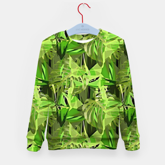 Thumbnail image of Tropical Jungle Greens Camouflage  Kid's Sweater, Live Heroes