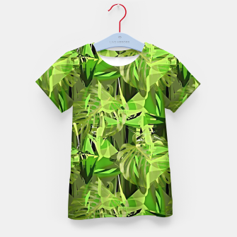 Thumbnail image of Tropical Jungle Greens Camouflage  Kid's T-shirt, Live Heroes
