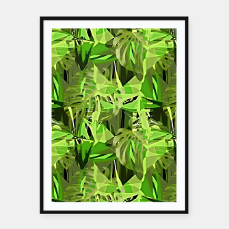 Thumbnail image of Tropical Jungle Greens Camouflage  Framed poster, Live Heroes