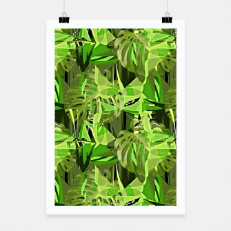Thumbnail image of Tropical Jungle Greens Camouflage  Poster, Live Heroes
