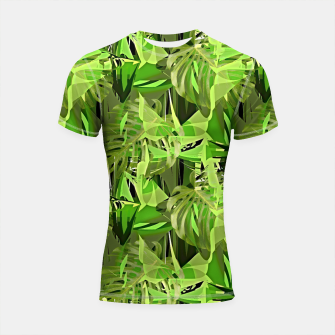 Thumbnail image of Tropical Jungle Greens Camouflage  Shortsleeve Rashguard, Live Heroes