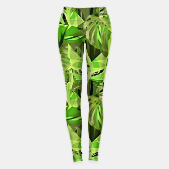 Thumbnail image of Tropical Jungle Greens Camouflage  Leggings, Live Heroes