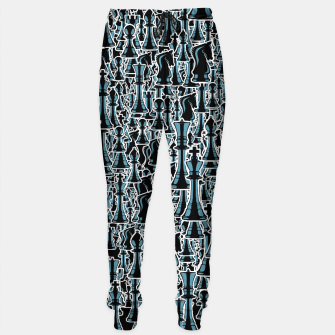 Thumbnail image of Chess Pattern II BLACK Sweatpants, Live Heroes