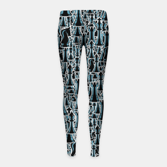 Thumbnail image of Chess Pattern II BLACK Girl's Leggings, Live Heroes