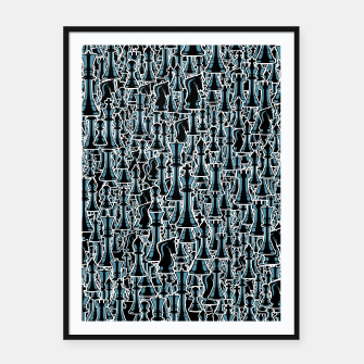Thumbnail image of Chess Pattern II BLACK Framed poster, Live Heroes