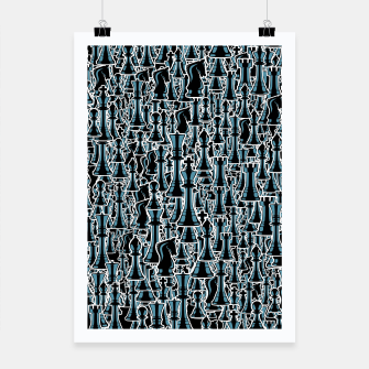 Thumbnail image of Chess Pattern II BLACK Poster, Live Heroes