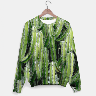 Thumbnail image of Green Cactus Cacti Plant Sweater, Live Heroes
