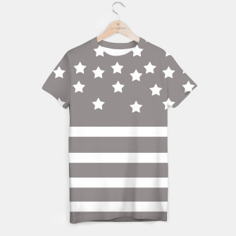 Thumbnail image of Grey and White Stars & Stripes T-shirt, Live Heroes