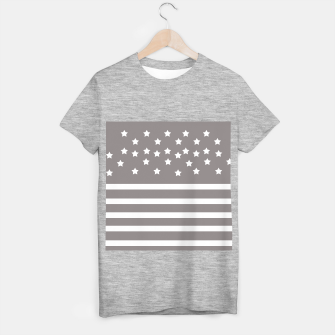 Thumbnail image of Grey and White Stars & Stripes T-shirt regular, Live Heroes