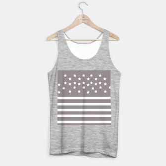 Thumbnail image of Grey and White Stars & Stripes Tank Top regular, Live Heroes