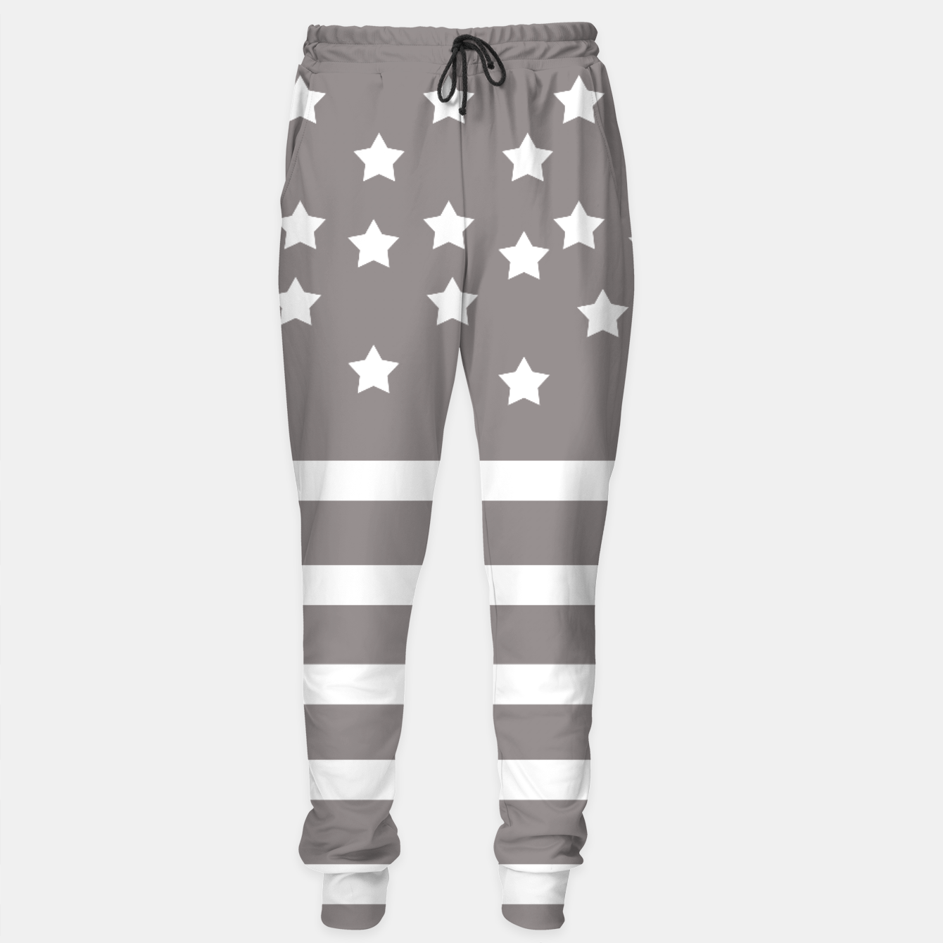 Foto Grey and White Stars & Stripes Sweatpants - Live Heroes
