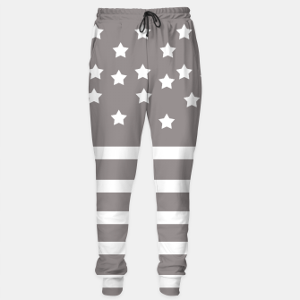 Thumbnail image of Grey and White Stars & Stripes Sweatpants, Live Heroes