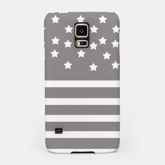 Thumbnail image of Grey and White Stars & Stripes Samsung Case, Live Heroes