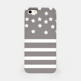 Thumbnail image of Grey and White Stars & Stripes iPhone Case, Live Heroes