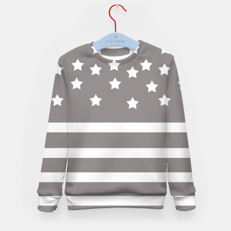 Thumbnail image of Grey and White Stars & Stripes Kid's Sweater, Live Heroes
