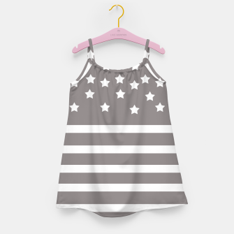 Thumbnail image of Grey and White Stars & Stripes Girl's Dress, Live Heroes