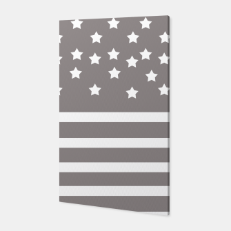 Thumbnail image of Grey and White Stars & Stripes Canvas, Live Heroes