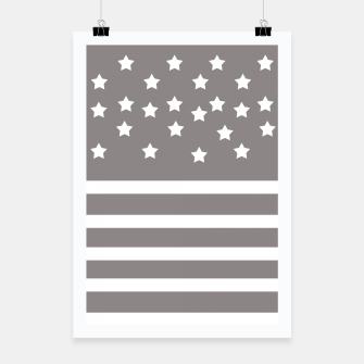 Thumbnail image of Grey and White Stars & Stripes Poster, Live Heroes