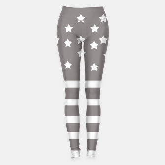 Thumbnail image of Grey and White Stars & Stripes Leggings, Live Heroes