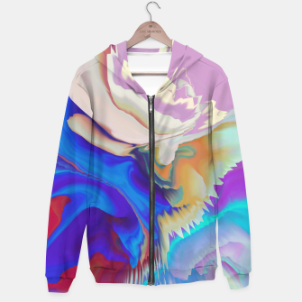 Miniaturka Abstract colorful flow of crystals Sudadera con capucha, Live Heroes
