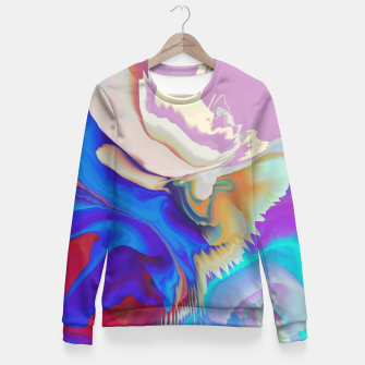 Miniaturka Abstract colorful flow of crystals Sudadera entallada, Live Heroes