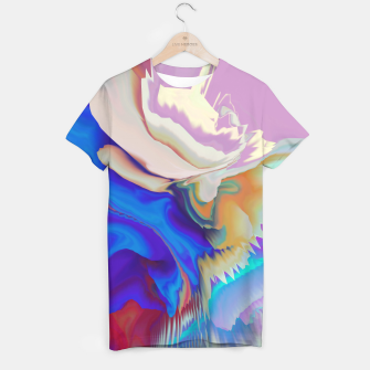 Miniaturka Abstract colorful flow of crystals Camiseta, Live Heroes
