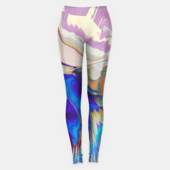 Miniaturka Abstract colorful flow of crystals Leggings, Live Heroes