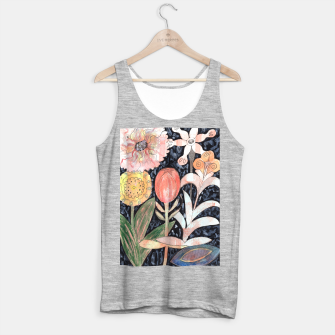 Miniatur Mixed Flowers with Tulip on Black  Tank Top regular, Live Heroes