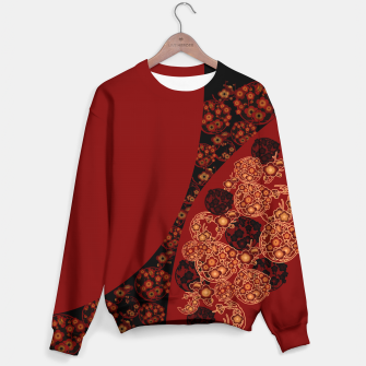Thumbnail image of Japanese traditional flower emblem art red black plum Sweater, Live Heroes