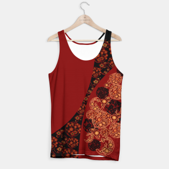 Thumbnail image of Japanese traditional flower emblem art red black plum Tank Top, Live Heroes