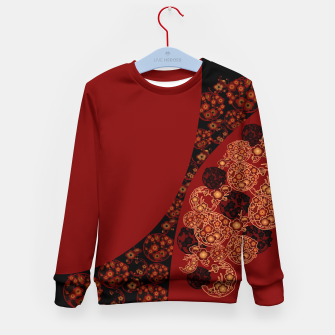 Thumbnail image of Japanese traditional flower emblem art red black plum Kid's Sweater, Live Heroes