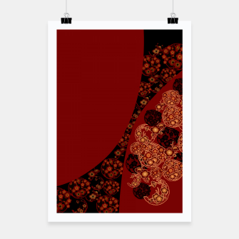 Thumbnail image of Japanese traditional flower emblem art red black plum Poster, Live Heroes