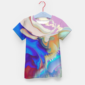 Miniaturka Abstract colorful flow of crystals Camiseta para niños, Live Heroes