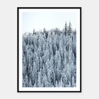 Thumbnail image of Frozen forest  Framed poster, Live Heroes