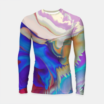 Miniaturka Abstract colorful flow of crystals Longsleeve Rashguard, Live Heroes