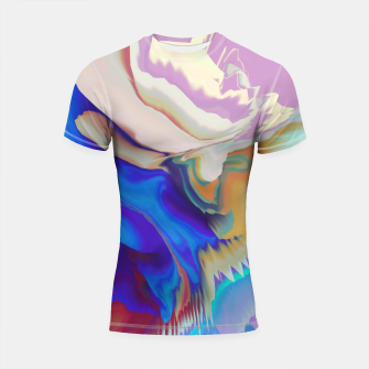 Miniaturka Abstract colorful flow of crystals Shortsleeve Rashguard, Live Heroes