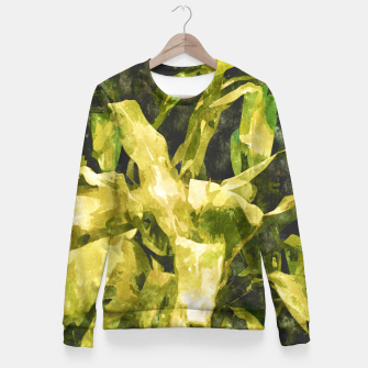 Thumbnail image of Green Nature Fitted Waist Sweater, Live Heroes