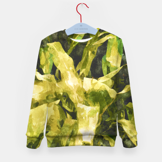 Thumbnail image of Green Nature Kid's Sweater, Live Heroes