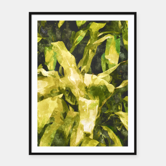 Thumbnail image of Green Nature Framed poster, Live Heroes