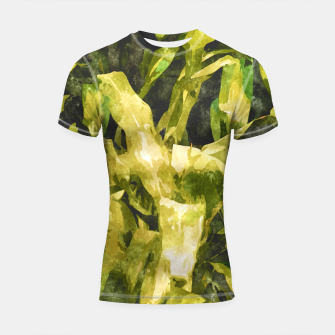 Thumbnail image of Green Nature Shortsleeve Rashguard, Live Heroes