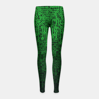 Thumbnail image of Reboot II GREEN Girl's Leggings, Live Heroes
