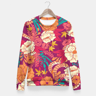 Jungle Pattern 002 Fitted Waist Sweater Bild der Miniatur