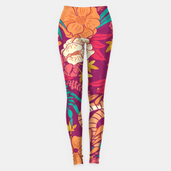 Jungle Pattern 002 Leggings Bild der Miniatur