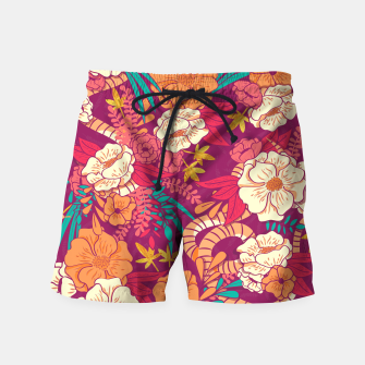 Jungle Pattern 002 Swim Shorts Bild der Miniatur