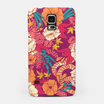 Jungle Pattern 002 Samsung Case Bild der Miniatur